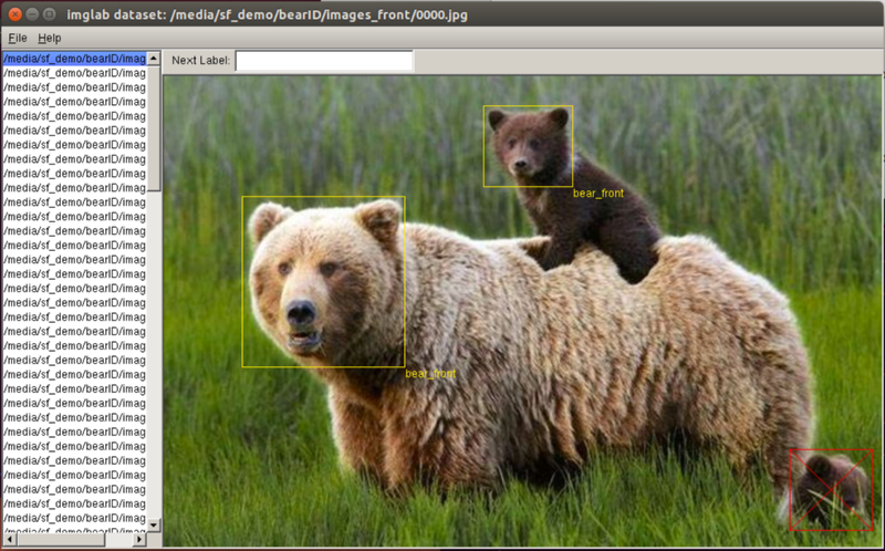 Labeling Bears with imglab